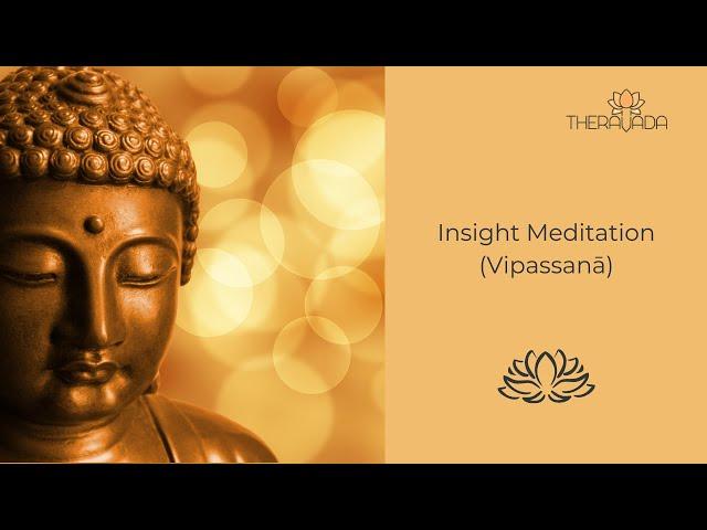Insight Meditation (Vipassanā) – 01.11.2020